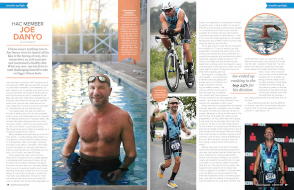 Dr. Danyo of Danyo Plastic Surgery featured in Delaware Hockessin Athletic Club Enhance Magazine